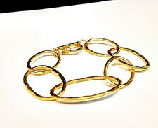 Gold Toned Copper Chain & Link Bracelet