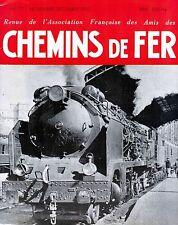 Chemins de fer n°177 - Novembre-Décembre 1952, revue AFAC