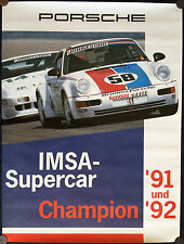 PORSCHE IMSA SUPERCUP OFFICIAL CHAMPIONS RACECAR POSTER 964 911 TURBO 3.6 1992