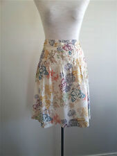 Pretty Pastels! H&M size EUR 34 cream floral cotton skirt in excellent condition