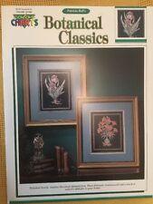 Botánico clásicos sin usar cross stitch chart folleto por color charts, 2 Diseños