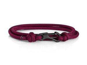 Maroon & Black Climbing Carabiner Bracelet Rope Bracelet for Men