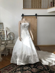Scassi By Eva Wedding Gown Size 10 Stunning Gown Champagne