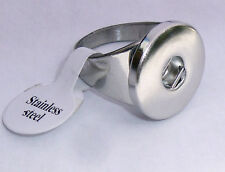 Premium Snap It Stainless Steel Ring For Snaps Style Button Charm Size  6  1/2