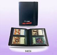 Ultra Pro *2 POCKET PRO BINDER BLACK* - 20 Pages & 80 Cards GAMING/TRADING