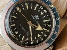 Vintage Ollech and Wajs First Gen Early Bird w/Divers All SS Case,FHF 72 Mvmt