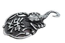Men Belt Buckle Silver Metal Western Fashion Cowboy Texas Scorpion Animal Scary