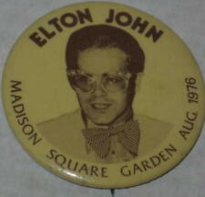 """Elton John In Concert Madison Square Garden Pin August 1976 Approx 2"""""""