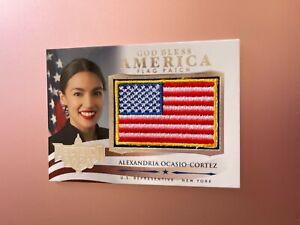 2020 POLITICAL DECISION PREMIUM CARD  FLAG PATCH ALEXANDRIA OCASIO CORTEZ GBA-2