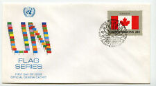 United Nations #410 Flag Series, Canada, Official Geneva Cachet, Fdc