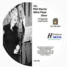 PHIL HARRIS - ALICE FAYE SHOW - 113 Shows Old Time Radio MP3 Format OTR On 2 CDs