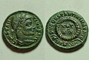 Constantine 321AD Rare genuine ancient Roman coin Laurel wreath success Sunburst