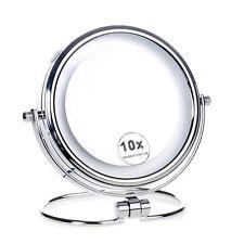 Cosmética Espejo de Aumento con Luz LED para Maquillaje Baño Mesa X 10 Aumentos