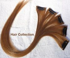 "18"" #30(M.Auburn) Human Hair Clip on in Extensions for Highlights"