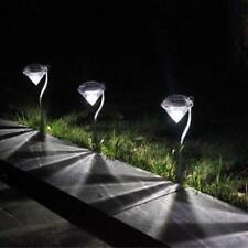 Diamonds Lawn Light Solar Powered 3 Color Path Spike Lanterns Lamps LED Sun Pane