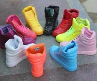 Womens Candy Colors Sport Shoes Girls Lace Up High Top Dance Sneakers Trainers