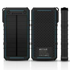 JETSUN Solar Charger Fast 16750mAh for Emergency Phone Charger with Waterproof S