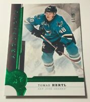 Tomas Hertl /99 made Artifacts Emerald Insert Parallel Hockey Card 37