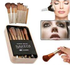 12 Pcs Nake3 Makeup Brush Set Cosmetic Brushes Blusher Eyeshadow Consealer Lip