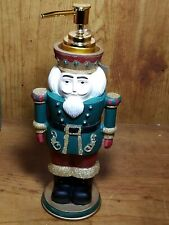 "Christmas Holiday 10"" Soldier Nutcracker Kitchen Bathroom Lotion Soap Dispenser"