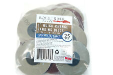 "25 3"" ROLOC ASSORTED 36-220 GRIT R QUICK CHANGE SANDING ABRASIVE DISCS ROLL LOCK"