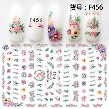 Nail Art Stickers Transfers 3D Self Adhesive Unicorns Flowers (F456)