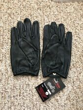 Men's Driving Black leather Gloves  Size Small