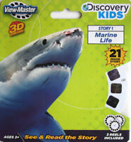 MARINE LIFE View-Master Reel Discovery Kids 3D Shark fish killer whale 3pack