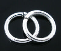 300 PCs Silver Plated Open Jump Rings Findings 1.2x9mm