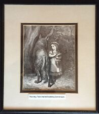 Gustave Dore Vintage Little Red Riding Hood Print.