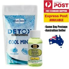 Detox Oral Chewing Gum & Ultra Wash Mouthwash - Fast Acting Saliva Cleanse