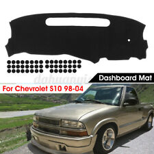 Black Dashmat Dashboard Mat Dash Cover Pad Protector For Chevrolet S10