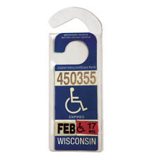 WalterDrake Handicap Placard Protective Plastic Hanger
