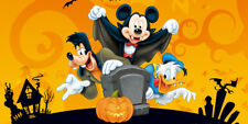 Birthday banner Personalized 4ft x2ft  Halloween Mickey