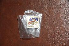 """VINTAGE 1993 Hockey Pin Back Color Enamel Team USA Sweden NEW 3/4"""""""