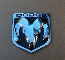 DODGE BLACK & CHROME 3M EMBLEM HOOD OR TRUNK TAILGATE LOGO FENDERS BADGE NEW