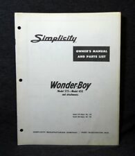 outdoor power equipment manuals guides ebay rh ebay com Simplicity Dealers Simplicity Vacuum Parts