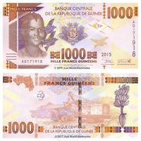 Guinea 1000 Francs 2015 P-New - New Design Banknotes UNC