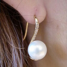 Fashion Jewelry Drop Earings Crystal Hook Earings Girl Chic Faux Pearl Earing JC