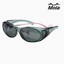 MOLA polarized fit over sunglasses prescription glasses men women driving UV400