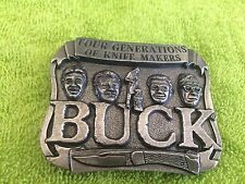 SMOKEY MOUNTAIN COOL FOUR GENERATIONS OF KNIFE MAKERS BUCK BELT BUCKLE