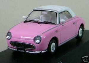 ## Nissan FIGARO 1:43 1/43 DieCast Model Closed PINK Kyosho 336 pc, RARE NEW ##