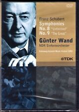 DVD Günter WAND: SCHUBERT Symphony No.8 & 9 Sinfonien Unfinished The Great NDR