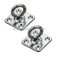 2pcs Marine Boat Stainless Steel Swivel Eye Pad Anchor for Trainers Suspension