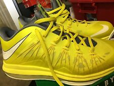 BRAND NEW Nike Air Max Lebron X Low, Size 9, Sonic Yellow Sprite DS
