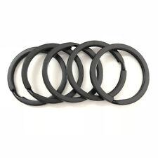 5x Strong Steel Solid Split Key Ring Black 30MM Metal Loop Flat Key Chain Holder