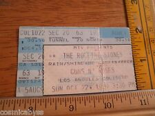 1989 The Rolling Stones Guns N' Roses concert tour ticket LA Coliseum 10/22