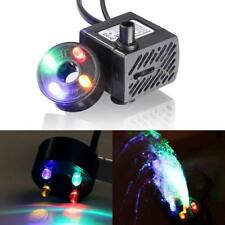 Water Fountain Pump with 4 LED Light (180L/H 3.5W) Small Submersible water pump