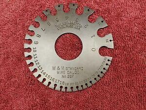 Starrett  #287  0 to 36 AWG  Steel Wire Gauge -- W&M Washburn & Moen