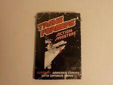 Transformers 1990 Vintage G1 Action Master OPTIMUS PRIME Instruction Booklet